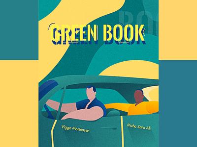 Green Book beautiful vector design gradient color illustration