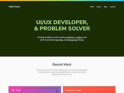 Portfolio Homepage homepage portfolio design website uiux figma