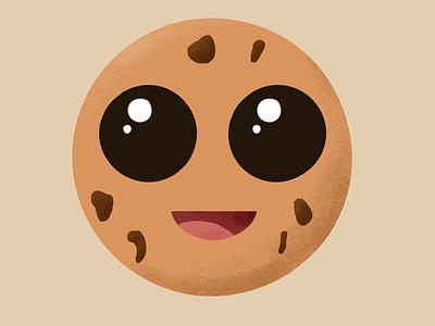 Cute cookie cookie procreate illustration