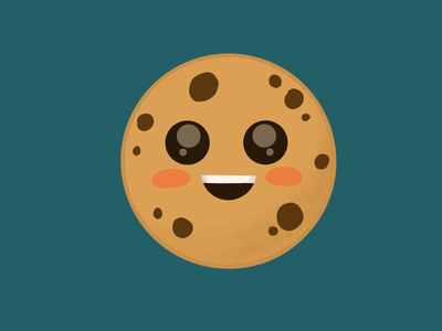 Blushing cookie character cute procreate illustration
