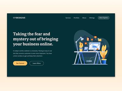 Homepage Redesign redesign branding web design homepage clean minimal website