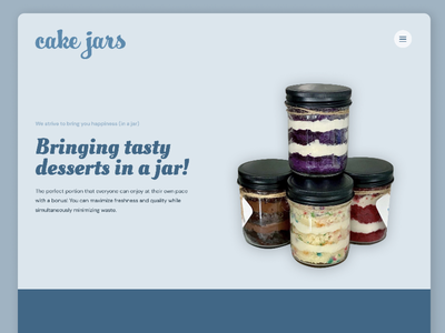 Cake Jars Homepage - V4 clean ui ux web design homepage minimal website