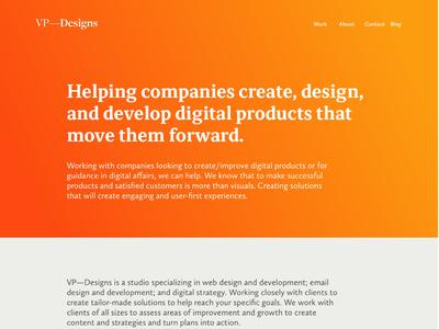 VP Designs Website - V2