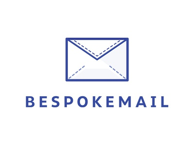 BespokeMail minimal outline stitch bespoke simple email logo