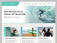 SurfTourney Website