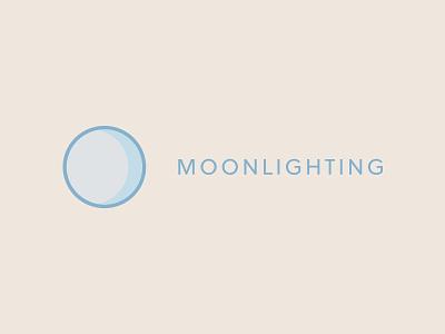 Moonlighting Logo blue clean moon logo