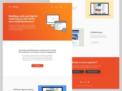 VP-Designs Website Layout V4 color site landing page portfolio homepage studio website