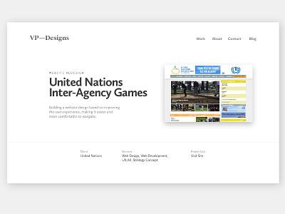 VP-Designs Case Study IAG ux ui case study portfolio website