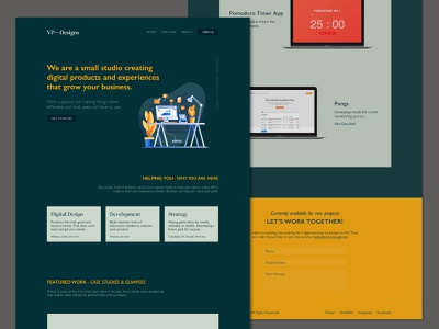 VPDesigns Redesign - v2 website typography web design homepage portfolio clean ui ux