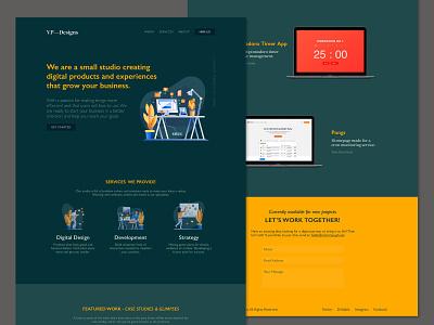 VPDesigns Redesign v3 portfolio web design clean ux ui website