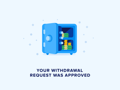 Withdrawal flat icon dollars bank safe money approved withdrawal