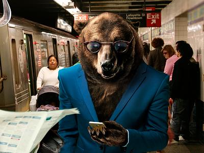 Bear and Bull options binary wallstreet new-york subway trade