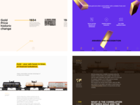 Gold history—Longread with Parallax