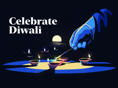Celebrate Diwali vector illustration figma holiday design contrast like fire hindi india vector hand candles forex landing trading gisterson flat illustration holiday celebrate diwali
