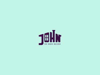 John The House Builder - logo concept concept logo design graphic