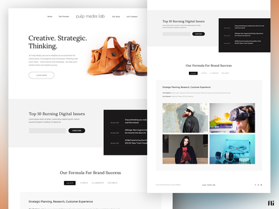 Pulp Media Lab - Mockup Design website home page branding graphic design