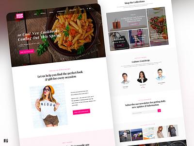 Shop Pulp - Mockup Design banner shopping home page design ui branding graphic design website