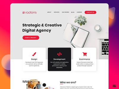 Radon5 - Landing Page digital agency home age landing page branding ui website graphic design design