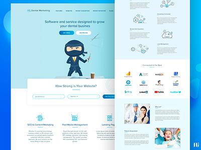 Dental Marketing - Landing Page dashboad vector illustration agency home page landing page ui branding website graphic design design