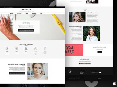 Landing Page - Project Management project management home page landing page ui branding website graphic design design