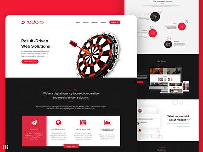 Landing page - Radon5 web design digital agency branding ui design landing page website graphic design