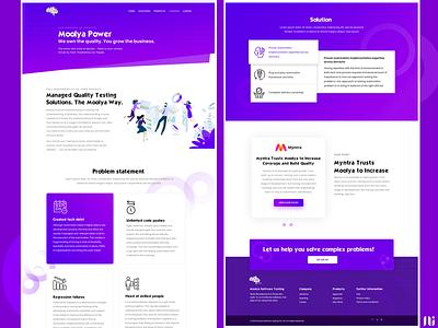 Moolya Learning page business software testing landing page branding ui website graphic design design