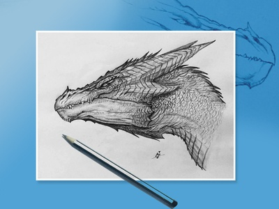 Dragon - Pencil Drawing