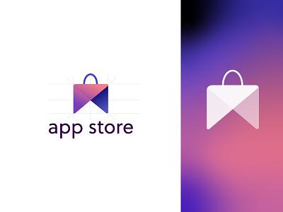 Logo Moolya app store dashboad website appstore ui graphic design branding logo