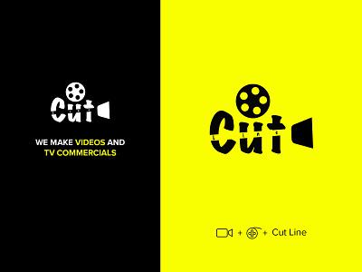 Cutline Videos product design video agency landing page ui design website branding logo