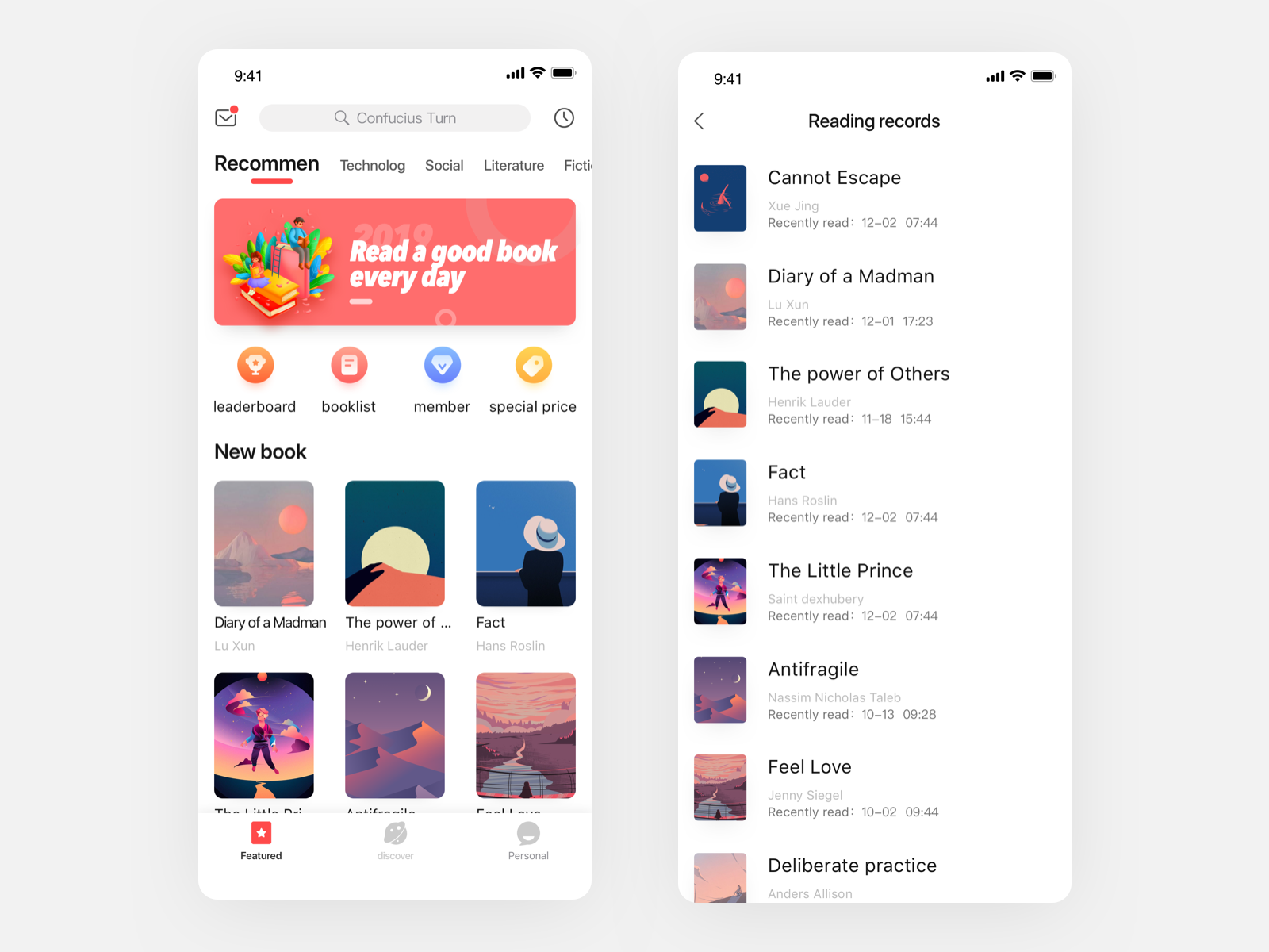 Reading Interface Design By Vikiou On Dribbble