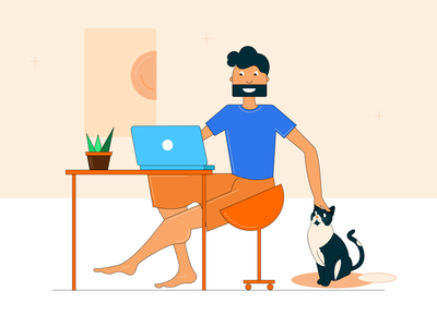 Working from home be like at work office work art illustration relaxing office at home homesweethome cat home workingfromhome working