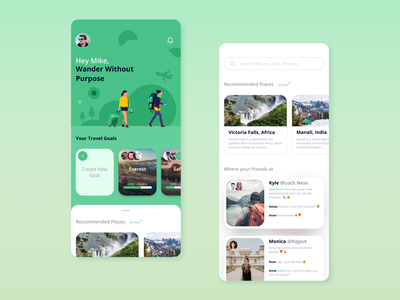 Travel Buddy concept mobile app design minimal ux design simple design ui ux mobile app travelling travel app travel