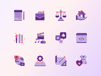 Egig2go icons pack branding simple purple mobile freelancing web design web site illustrations icons pack icons
