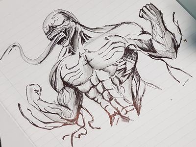 VENOM comic art venom drawing art sketching