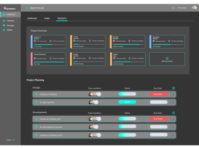 Project management dashboard 3