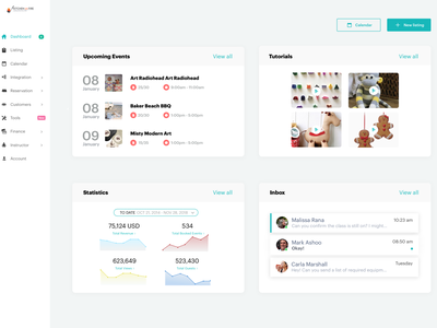 pro dashboard web ux ui design
