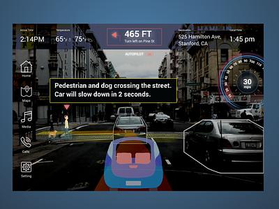 Autonomous vehicle interface mockup