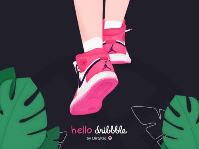 Hellodribbble air jordan illustration first shot debut