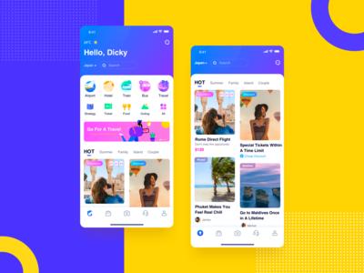 Travel App Redesigned