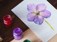 Watercolor spring flower