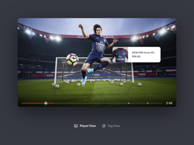 Interactive Video UI commerce touchpoint sport football psg cms editor ux ui player video interactive