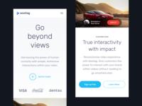 Responsive website header for mobile