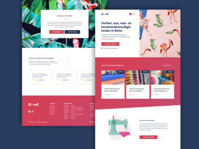 Fabric & Sewing Shop Website Concept