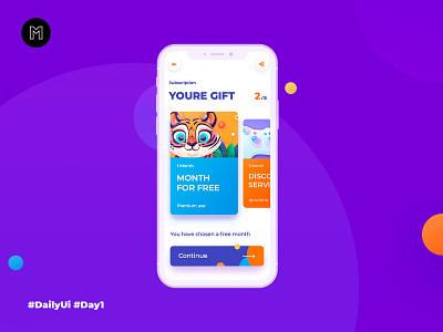 Subscription dailyui subscription mobillapp mobil kids animal flat illustrator illustration vector digital app ux web ui