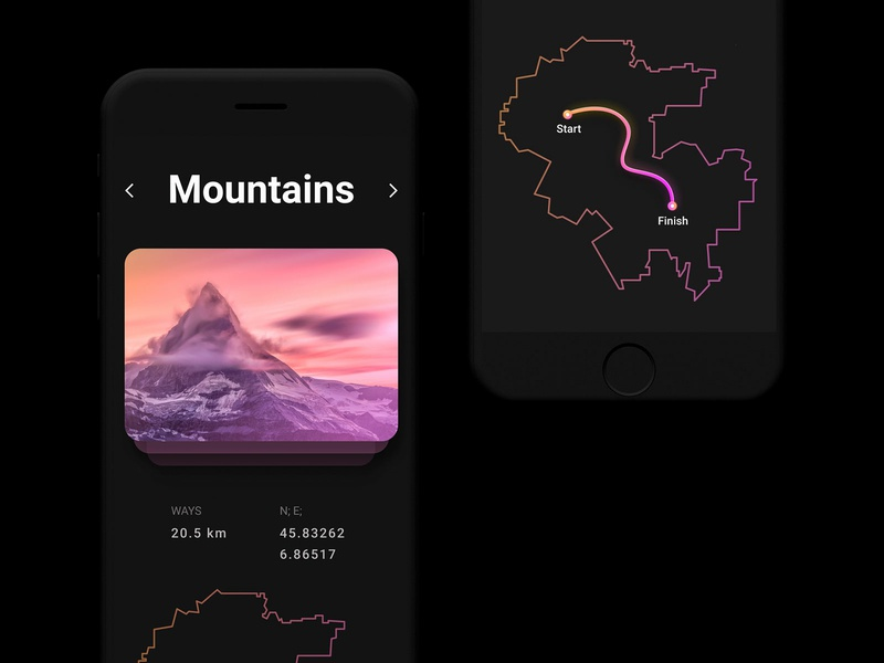 Day #20 Location Tracker map design map gradien webdesign graphic app design branding ux ui web digital website challange dailyui road way mountain location location tracker
