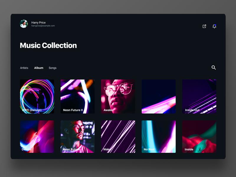 Day #22 Search search site webdesign dark music album website digital web ux ui challenge dailyui