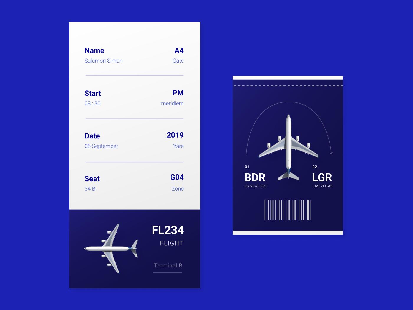 Day #24 Boarding Pass design graphic ticket flight fly digital web ux ui boarding pass