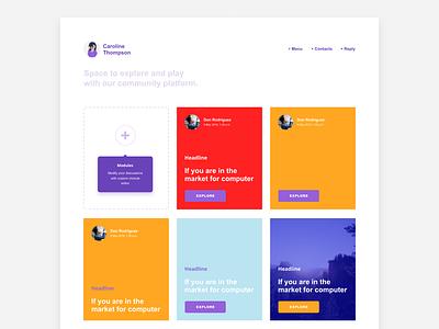 Day 27 Dropdown webdesign design site website digital web ux ui button space card slip board menu challenge dailyui dropdown