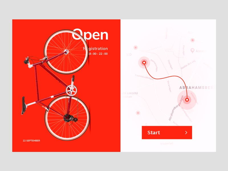 Day #29 Map red site webdesign website web ux ui bycicle map dailyui
