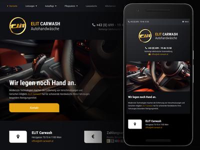 Elit Carwash Webdesign